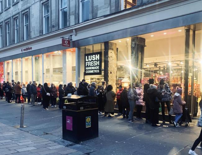 People queued for the Lush Boxing Day sale - and Glasgow can't handle it