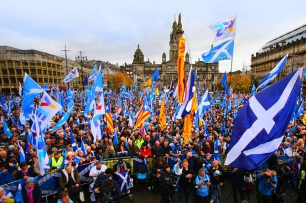 Glasgow Times: A previous rally for independence in George Square