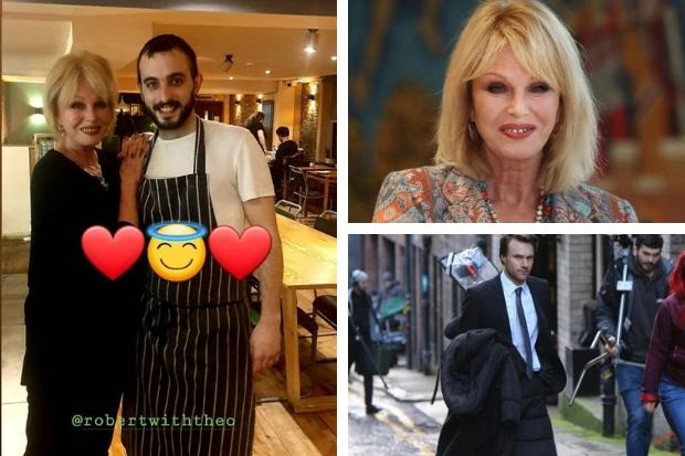 Joanna Lumley dines at Glasgow restaurant as filming continues for Falling for Figaro