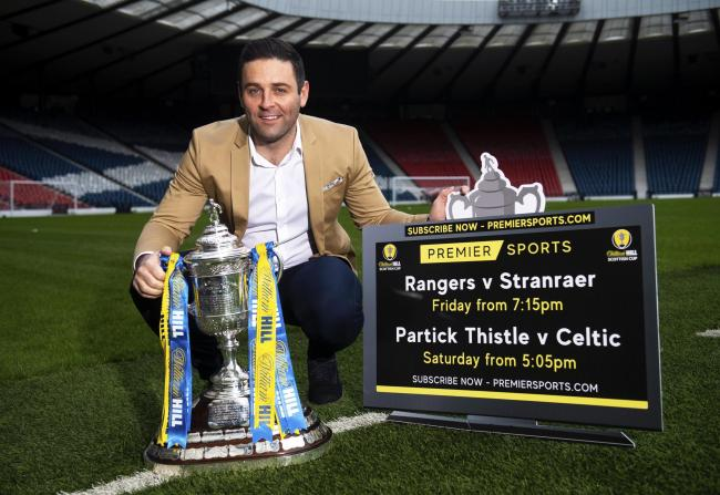 GLASGOW, SCOTLAND - JANUARY 14: Frank McKeown is pictured previewing the two live Scottish Cup fourth round matches that will feature on Premier Sports this weekend, at Hampden Park, on January 14, in Glasgow, Scotland. (Photo by Gary Hutchison / SNS Grou