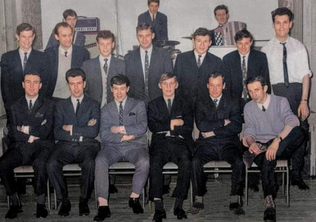 Glasgow Times: Hugh Blair, second from left, back row, at a Neilston Juniors function in the Glen Halls in 1964