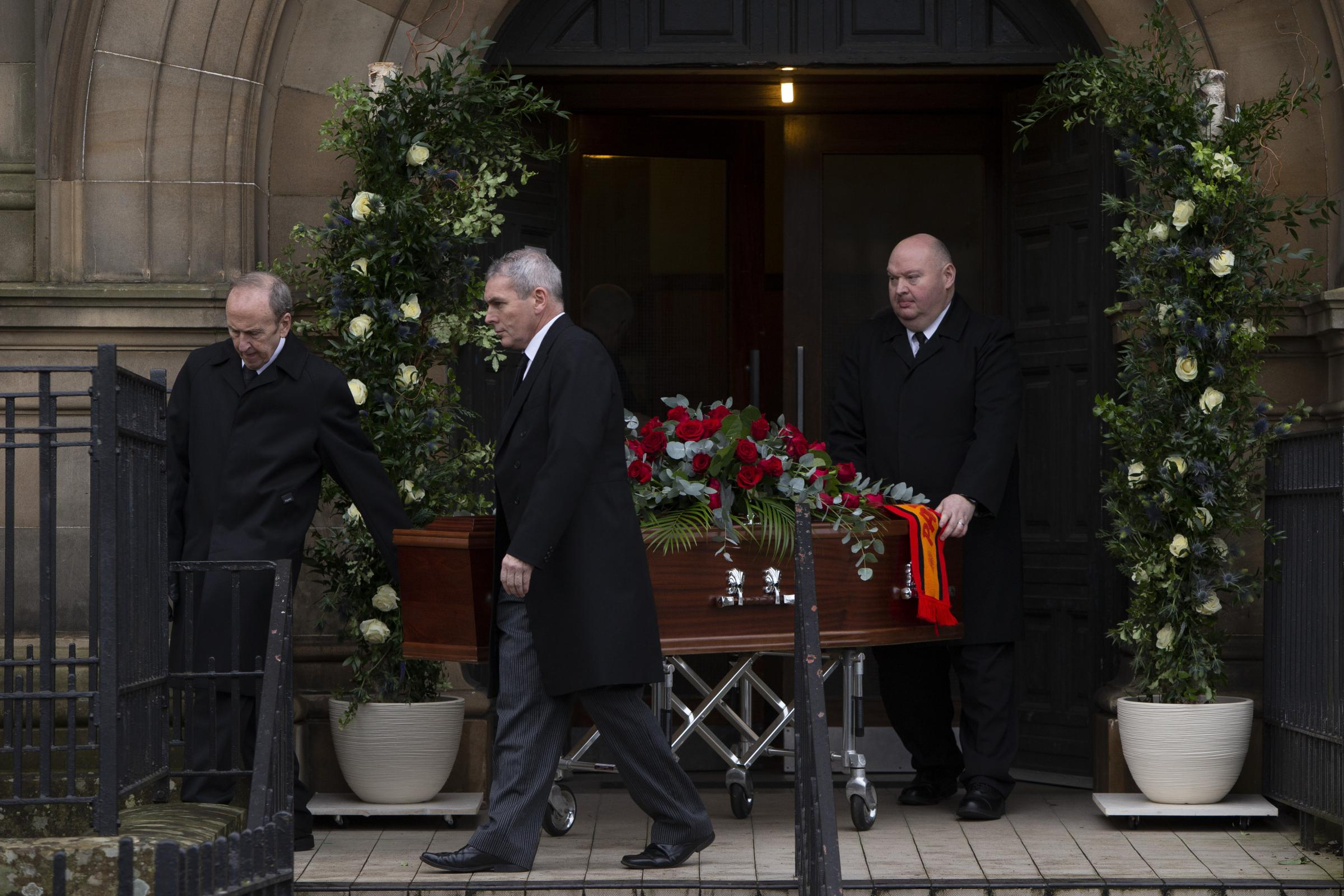 Thistle team pay tribute at funeral