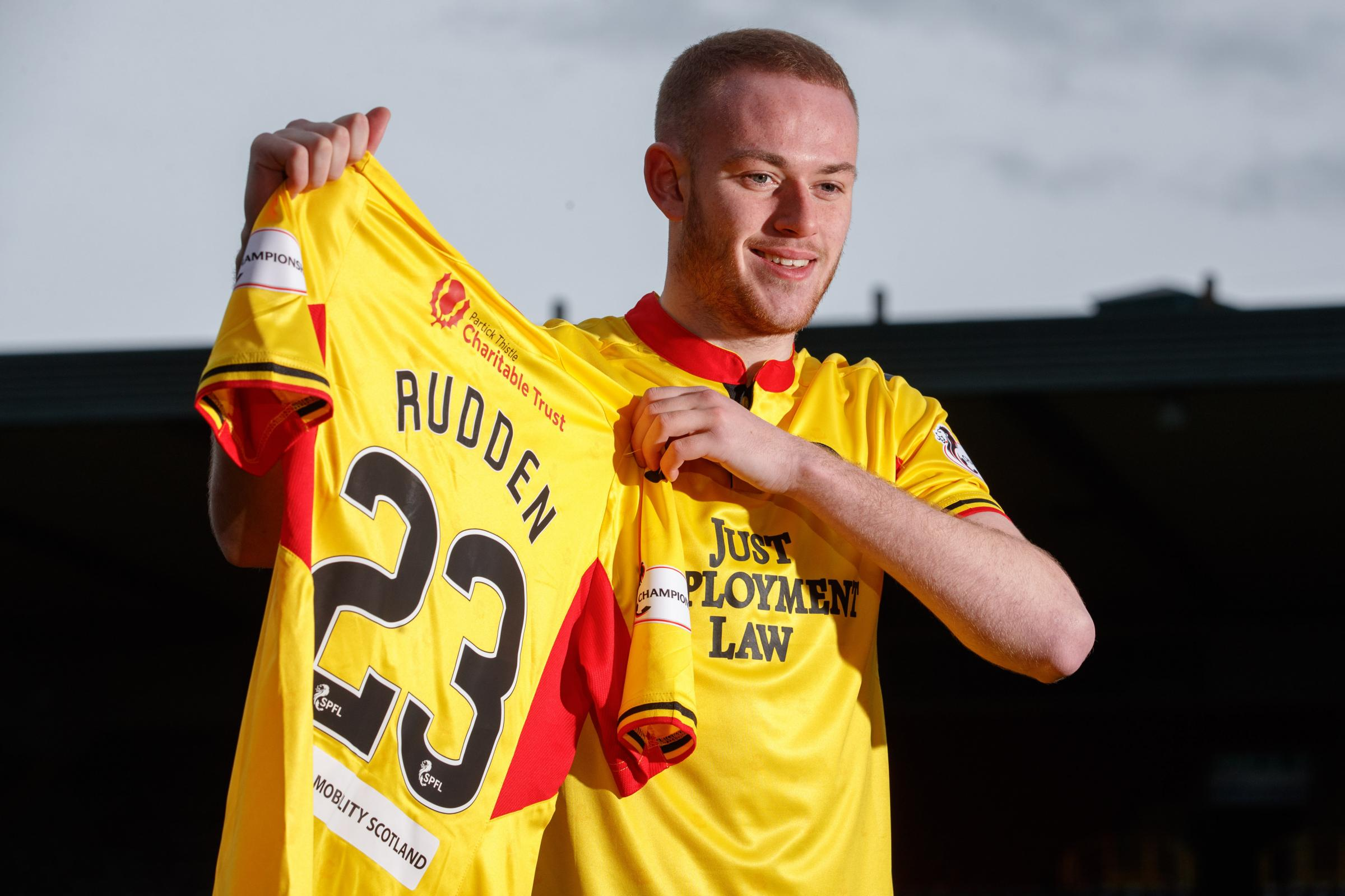 Partick Thistle's Zak Rudden delighted to team up with ex-Rangers idol Kenny Miller