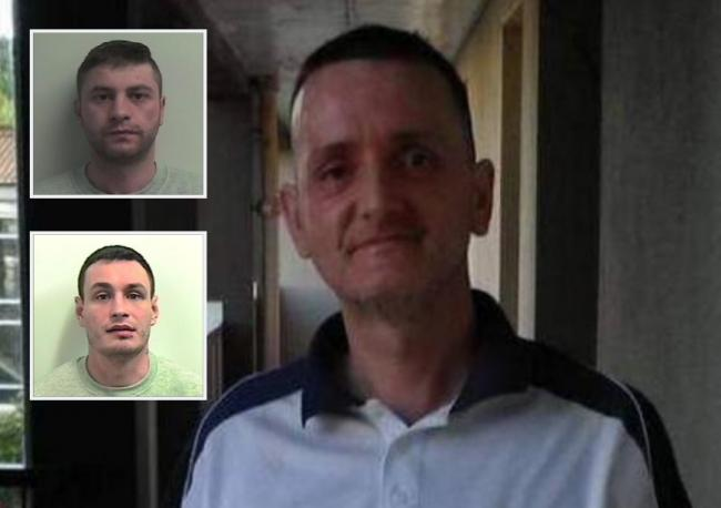 Stephen O'Donnell and Robert Muir, inset, murdered George Calvert in March last year