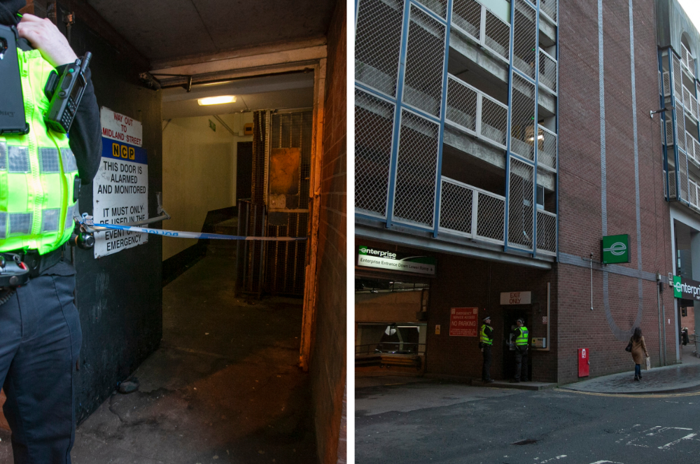 Man found seriously injured in Glasgow car park as police lock down stairwell