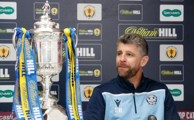 Stephen Robinson has his eyes on the prize as Motherwell prepare to take on Dundee in the Scottish Cup.