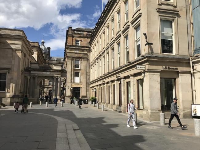 Retailer Size? say they are close to Royal Exchange Square opening