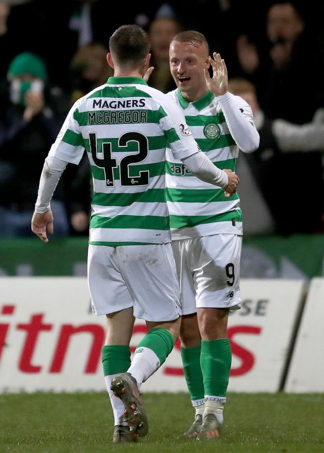 Callum McGregor was delighted to see Leigh Griffiths back on goalscoring form for Celtic against Partick Thistle.
