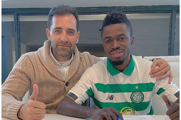 Ismaila Soro pictured in Celtic jersey for first time since signing Parkhead deal