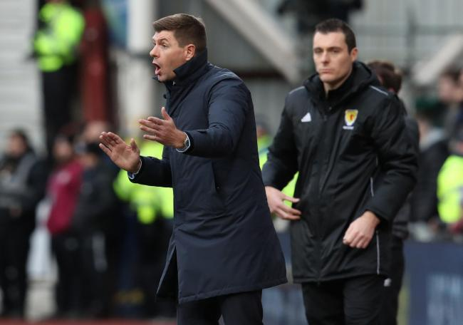 Rangers manager Steven Gerrard during the Ladbrokes Scottish Premiership match at Tynecastle