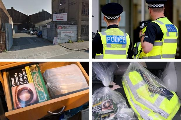 Cops seize council branded jackets and other items during Polmadie Car Boot Sale operation