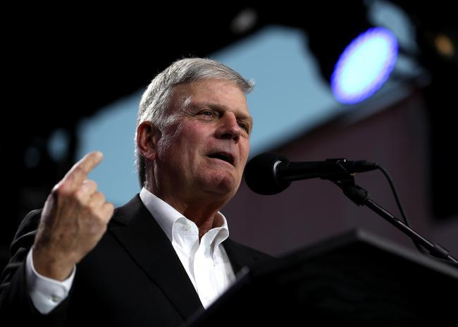 Controversial preacher Franklin Graham
