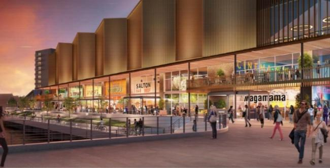 An artist's impression of plans for the retail outlet at Glasgow Harbour