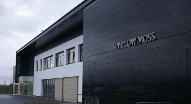 The weapons were discovered during a search of HMP Low Moss last year