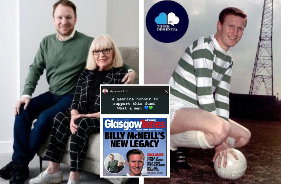 Rangers icon Ally McCoist shares Billy McNeill front page as he backs dementia fund