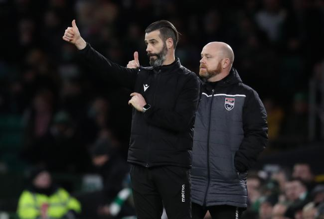 Ross County co-managers Steven Ferguson, right, and Stuart Kettlewell, left. Photo: Andrew Milligan/PA Wire.