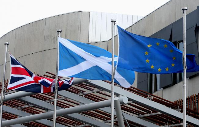 Flags at Holyrood.Pic Gordon Terris/The Herald21/12/16