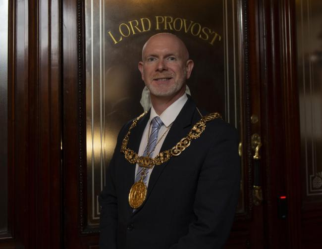 The new Glasgow Lord Provost, Philip Braat pictured at the City Chambers
