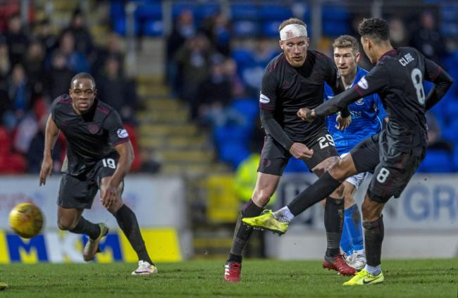 Sean Clare secured a late point for Hearts away to St Johnstone