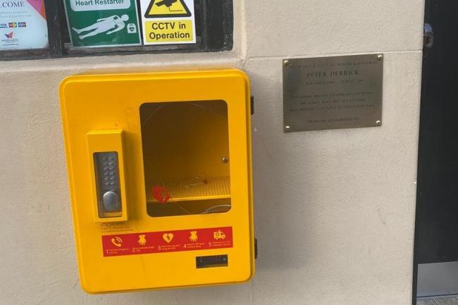 The lifesaving equipment was installed outside the pub next to a memorial plaque (Image: The Daily Record)