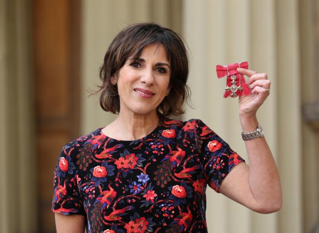 Shereen Nanjiani was awarded an MBE by Prince Charles yesterday for her services to broadcasting