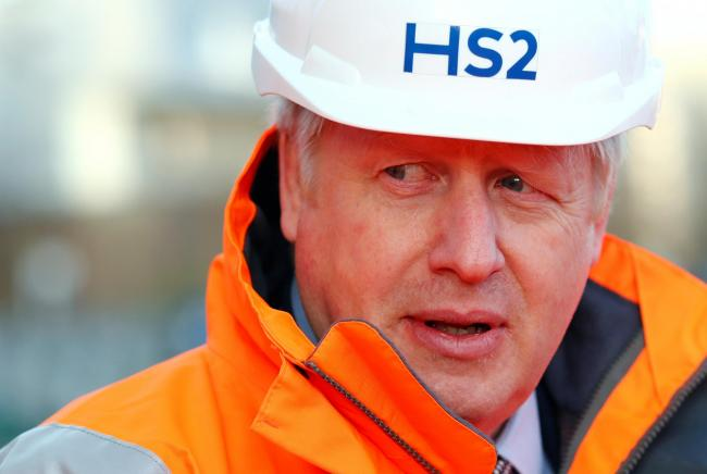 Prime Minister Boris Johnson during a visit to Curzon Street railway station in Birmingham where the HS2 rail project is under construction. PA Photo. Picture date: Tuesday February 11, 2020. The Prime Minister has given HS2 the go ahead, telling the Hous