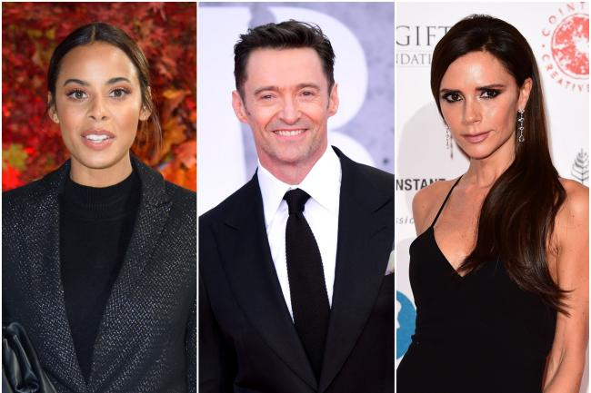 Rochelle Humes, Hugh Jackman and Victoria Beckham