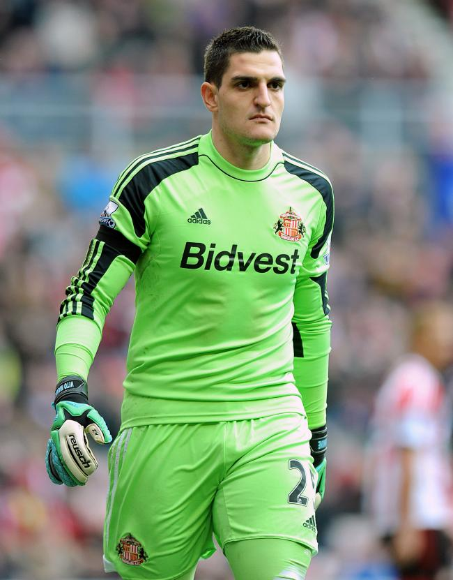 File photo dated 12/04/14 of Vito Mannone, Sunderland. PRESS ASSOCIATION Photo. Issue date: Wednesday  June 25, 2014. Sunderland goalkeeper Vito Mannone has dismissed claims he has handed in a transfer request following the arrival of Costel Pantilimon. S