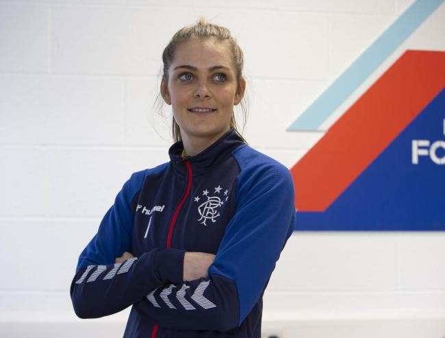 FOR HERALD ON SUNDAY...Jenna Fife, goalkeeper for Rangers women's team pictured at Rangers Hummel training ground...  Photograph by Colin Mearns.18 February 2020.For Herald and Times, see interview by Alison McConnell...
