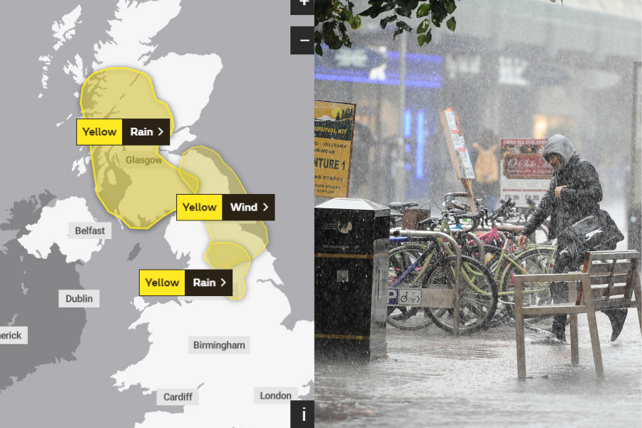 The Met Office issues... another yellow weather warning for Glasgow