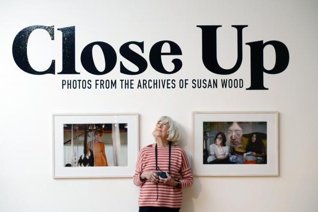 GLASGOW, SCOTLAND - FEBRUARY 24: US photographer Susan Wood poses for a photograph at the Lighthouse to launch the first ever exhibition of her work which saw her at the heart of US culture and counter-culture in the 60s and 70s, including being on-set on