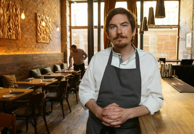 Peter McKenna, chef and co-owner of The Gannet restaurant on Argyle street, Finnieston, Glasgow...   Photograph by Colin Mearns.18 July 2018.For Herald business, SME focus...