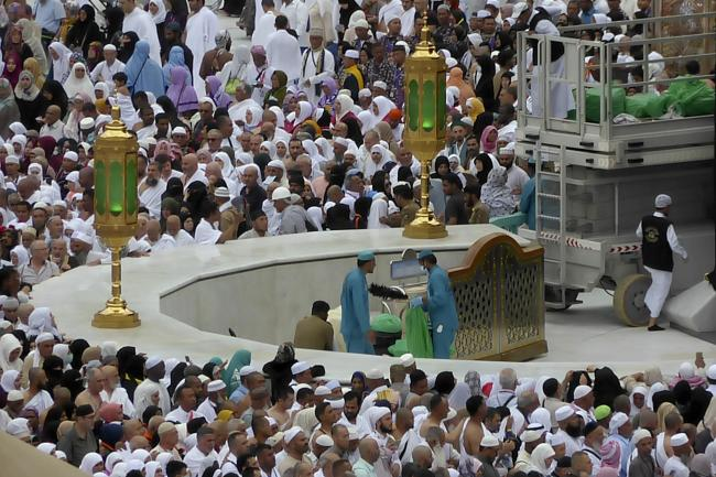 Muslim pilgrims visiting the Kaaba
