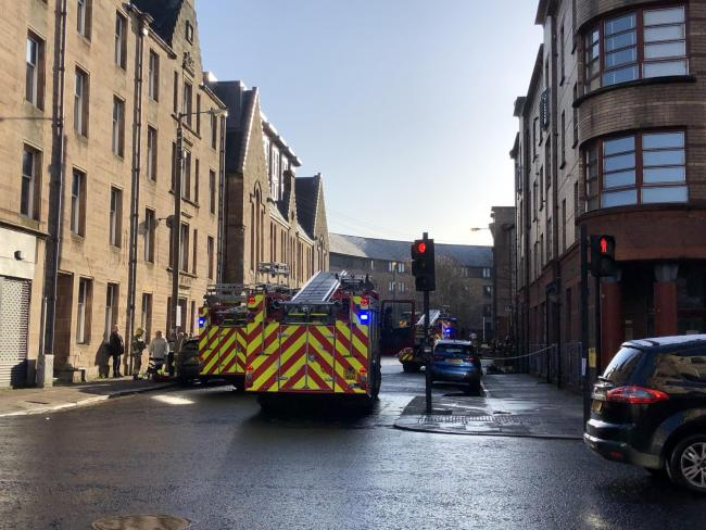 Fire crews tackle blaze in city centre flat