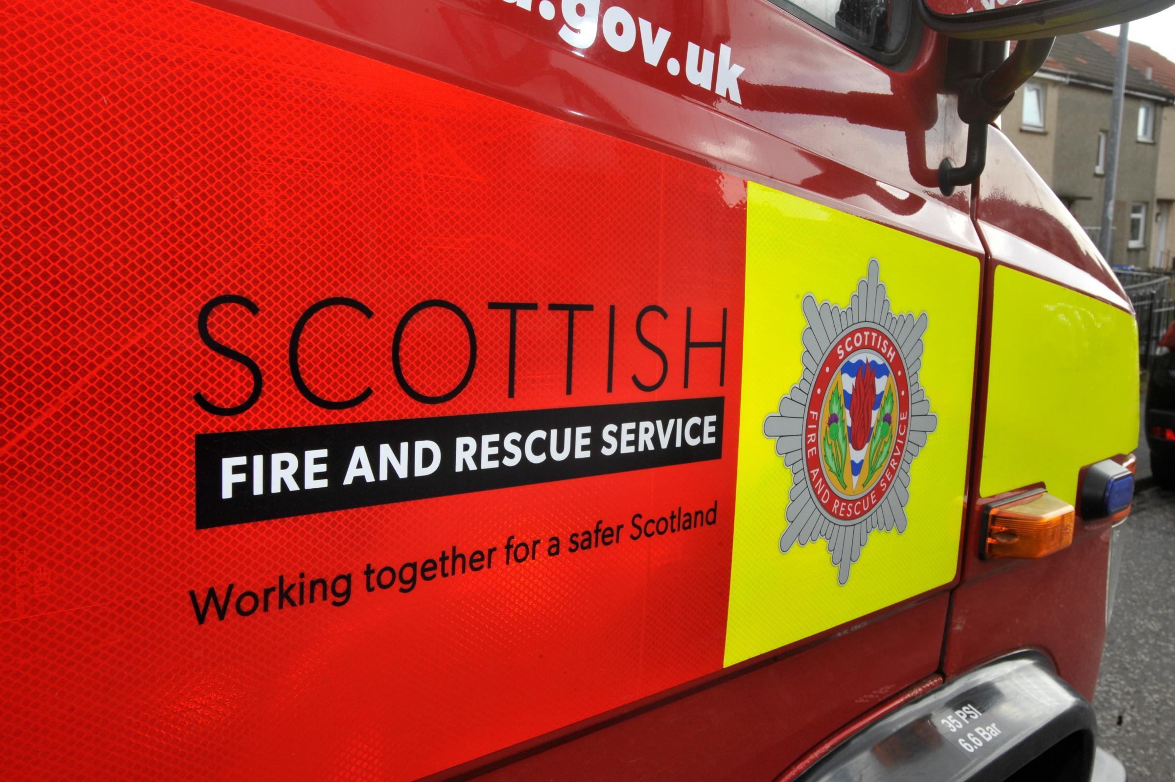 Fernlea: Firefighters fight overnight house fire in Bearsden
