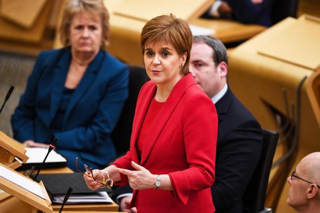 EDINBURGH, SCOTLAND - JANUARY 08: First Minister of Scotland Nicola Sturgeon makes a ministerial statement on the conclusion of the judicial review at the Scottish Parliament on January 8, 2019 in Edinburgh, Scotland. Alex Salmond the former First Ministe