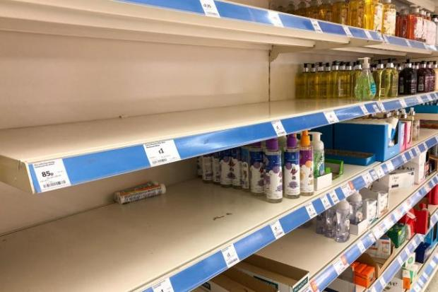 Glasgow Times: Empty supermarket shelves were a common sight at the start of lockdown