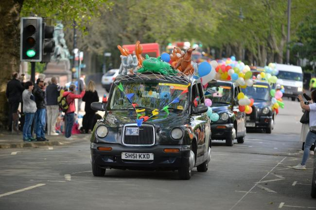 Glasgow Taxis Annual Summer Outing to Troon..The taxi drivers and children left from kelvin Way in Glasgow's West End for their daytrip to the seaside...Kirsty Anderson Newsquest/ Herald and Times.19/06/19...........