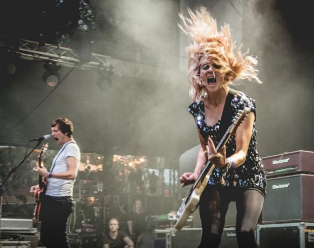 Glasgow Times: Cooper on stage with The Subways. Picture by Jaroslav Kutheil