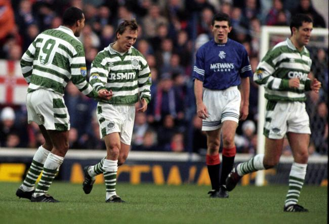 Ex-Celtic forward Andreas Thom in action against Rangers