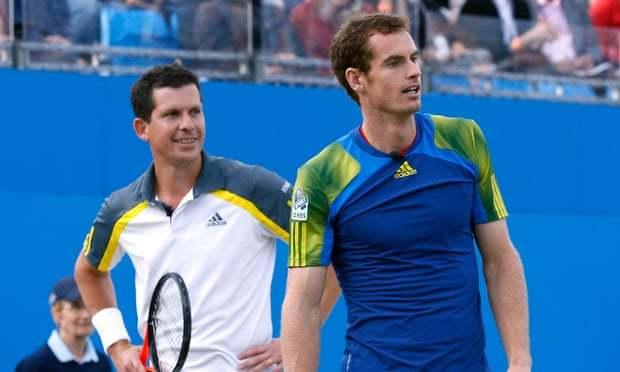Tim Henman and Andy Murray. Pic - PA