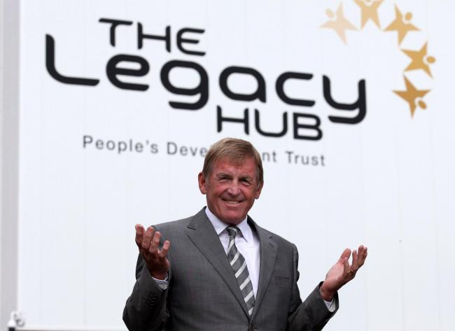 Former Scottish footballer Kenny Dalglish after officially opening the Dalmarnock Legacy Hub in Glasgow. PRESS ASSOCIATION Photo. Picture date: Friday October 9, 2015. The community-owned Legacy Hub, a new recreational and educational centre next to the E