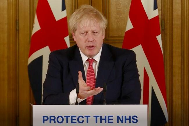 Boris Johnson announces the closure of pubs and restaurants. PICTURE: PA Video/PA Wire.
