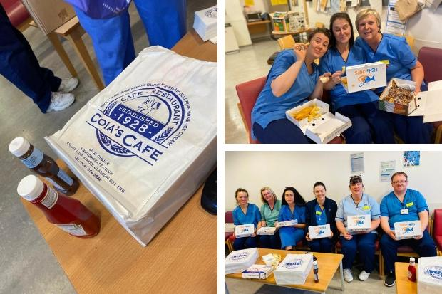 Coronavirus: Dennistoun restaurant Coia's delivers fish suppers to Glasgow Royal Infirmary staff