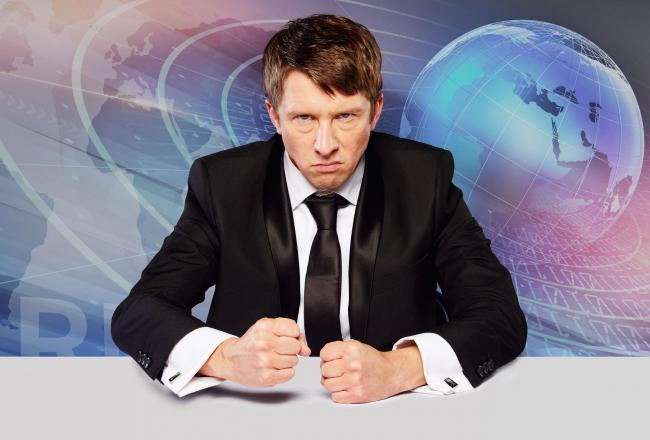 Comedian Jonathan Pie has rescheduled his Glasgow tour date