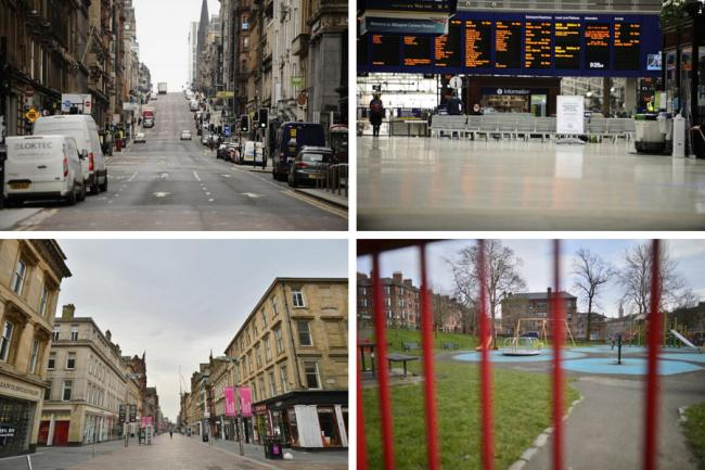 Ghost town Glasgow: UK wide coronavirus lockdown brings city to standstill