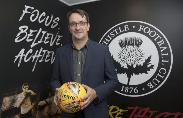 Partick Thistle chief exec Gerry Britton is a man with a plan
