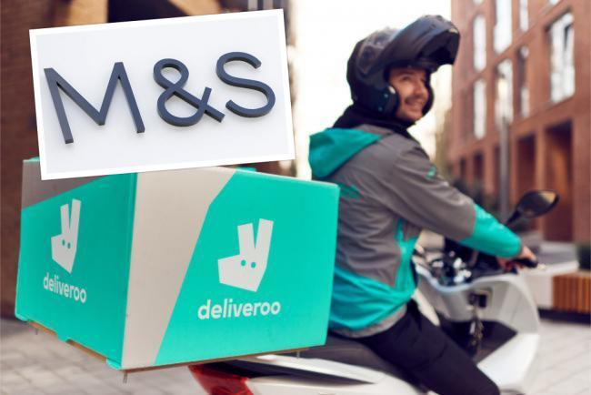 Deliveroo has teamed up with Marks and Spencer to launch a grocery delivery service. Picture: Newsquest