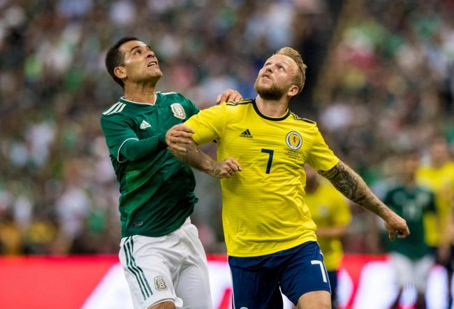 Scotland forward Johnny Russell in action against Mexico