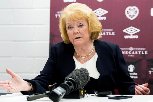 Hearts owner Ann Budge. Photo by Ross Parker/SNS Group.